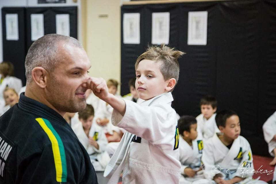 Lee Villeneuve classe jiujitsu, enfants